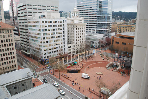 View of Pioneer Courthouse Square from The Nines