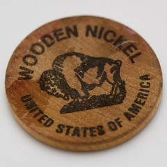 Royal Donut wooden nickel (front)