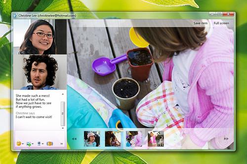 Video conversation in Messenger 2011