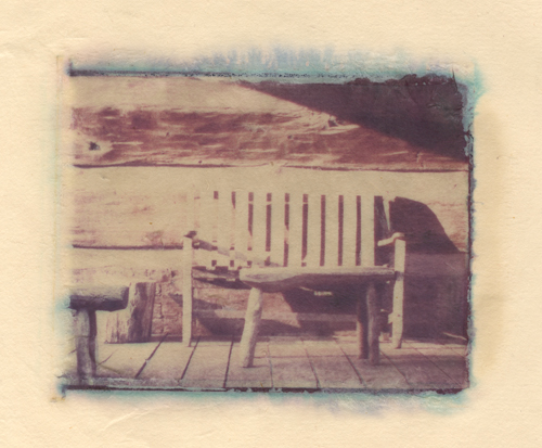 country porch Polaroid Transfer (c) 2003, Lynne Medsker