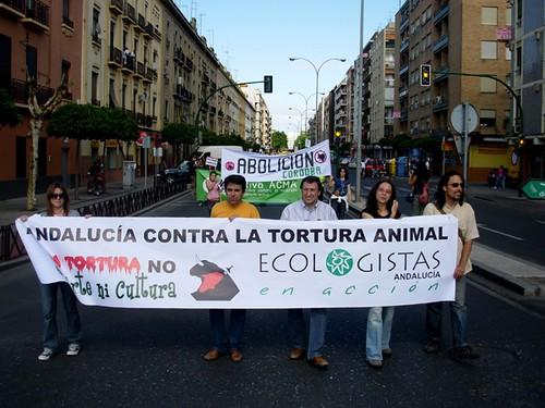 Manifiestación en Córdoba por la abolición de la tauromaquia. Mayo 2009