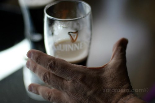 Reaching for a Guinness, Guinness Storehouse, Dublin, Ireland