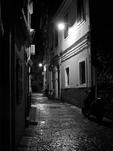 night walk.. corfu