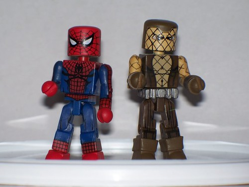 Classic Spider-Man and Shocker