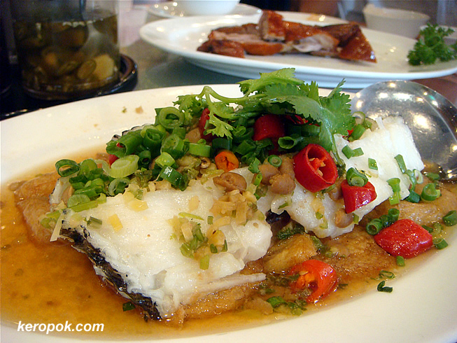 Steamed Cod Fish with chilli