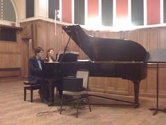 Alan Rusbridger plays the piano