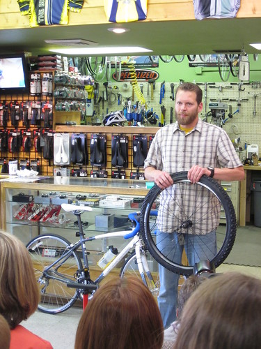 Flat Tire Fix Class at the Bike Smith