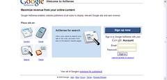 New AdSense Homepage