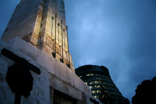 Tuesday: Cenotaph & Beehive at night