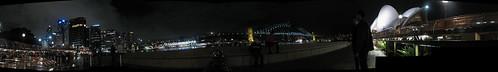 Sydney by night, mega-panorama