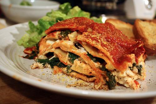 Spinach-Mushroom Lasagna