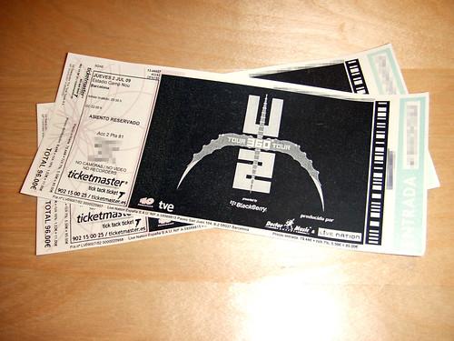 Entradas U2
