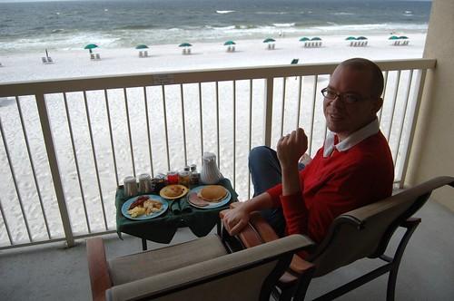 Breakfast on the veranda.