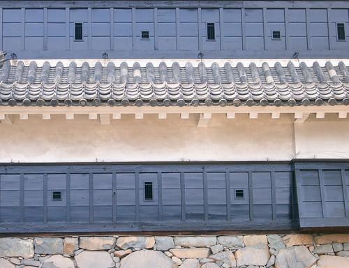 Castillo de Matsumoto. Matsumoto-jo. Troneras para flechas y armas de fuego