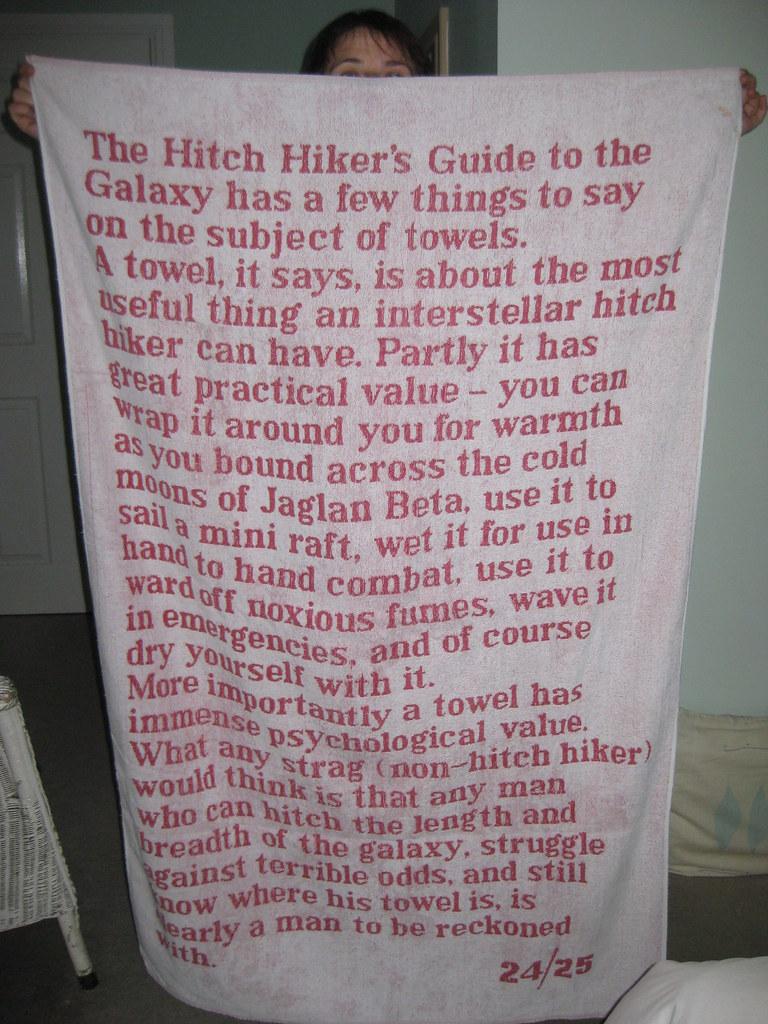 Towel Day:25 maggio...