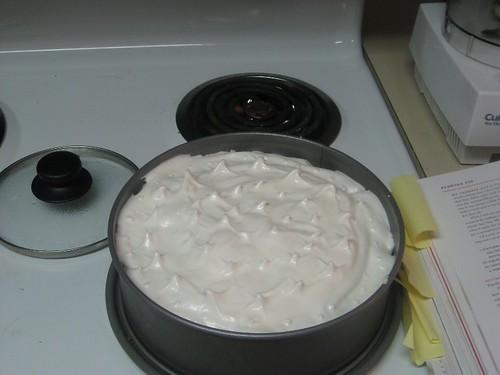 Spread the meringue over the pie