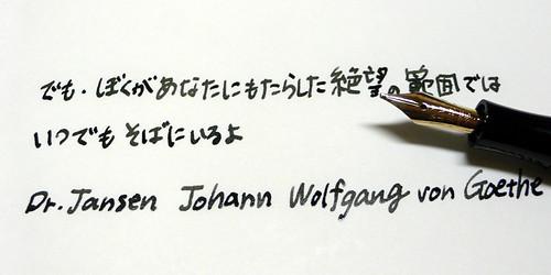Dr.Jansen johann wolfgang von Goethe