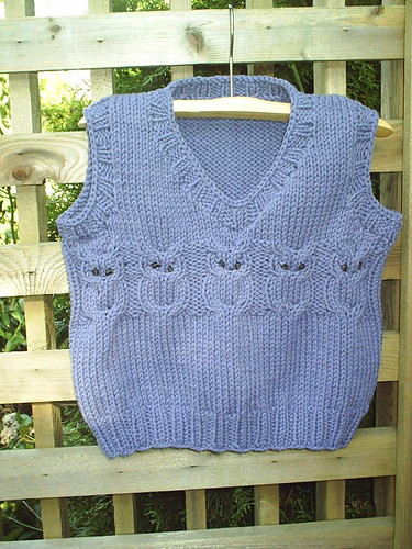 * This is the baby owl vest my friend is knitting - how adorable!!