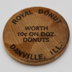 Royal Donut wooden nickel (back)