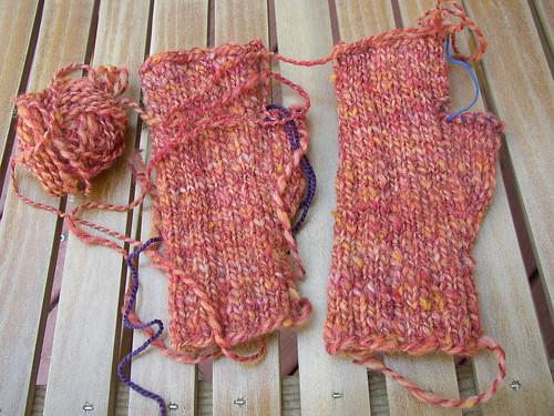 orange mitts