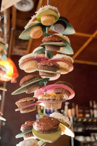Hanging cupcakes!