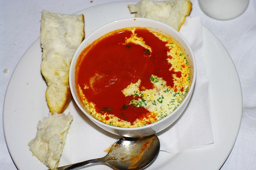 Tomato soup at Huon Grand Hotel, Huonville Tasmania