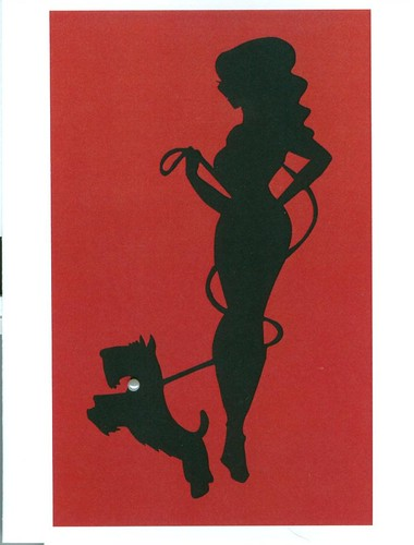 Scottish Terrier and Pin Up Note Card