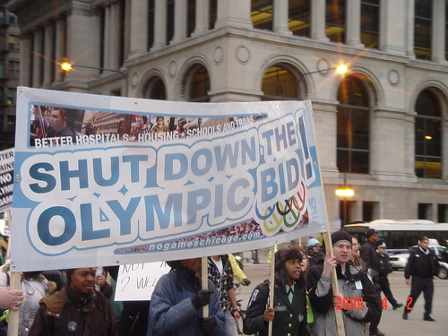 No Games Chicago held a rally protesting the Chicago Olympic bid for the 2016 summer games. Photo by Albert Corvera.