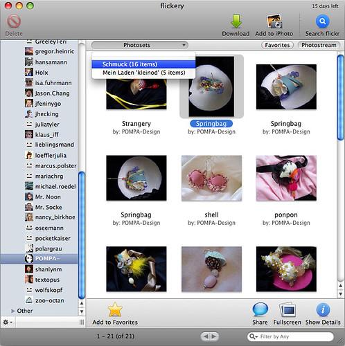 flickery: Bilder eines Kontaktes
