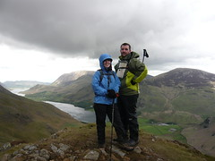 Sid and Shell at the top of Haystacks