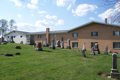Gravestones at North Liberty Christian Church