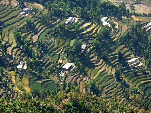 view of Mussoorie, Uttarakhand, India