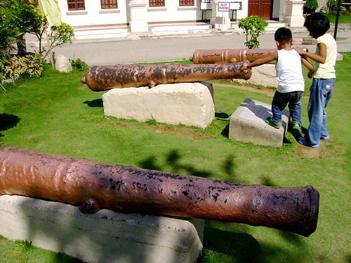 The canons that defended the town from the Moro raiders