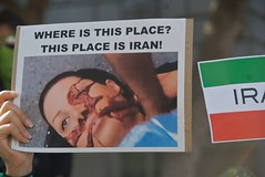 Neda's photo - June 20 Iran election protest i...
