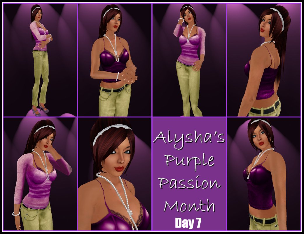 ALY'S PURPLE PASSION MONTH:  DAY 7