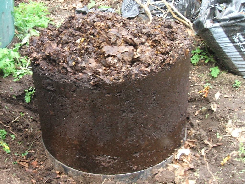 Unshelled compost, full of worms