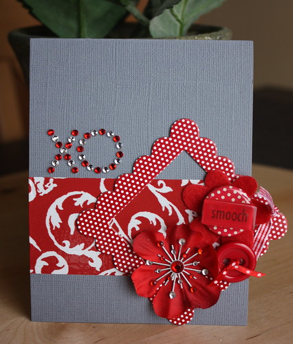 By cropping in, the card is center stage, and the natural light from the patio doors is just right.