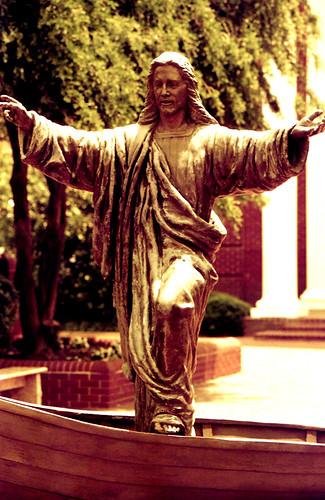 Redscale Jesus. (Fuji Superia Reala 100 — Redscaled. Nikon F100. Epson V500.)