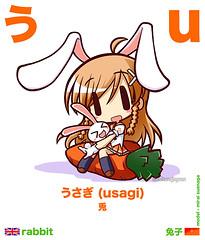Learn Hiragana - う u