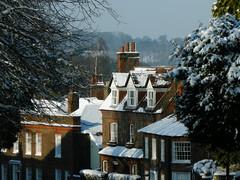 Snow in Fishpool Street, St Albans
