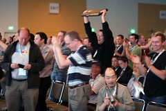 Crowd reaction to Google Wave