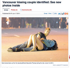 Scott Jones & Alexandra Thomas - Kissing Couple in Vancouver Riot identified