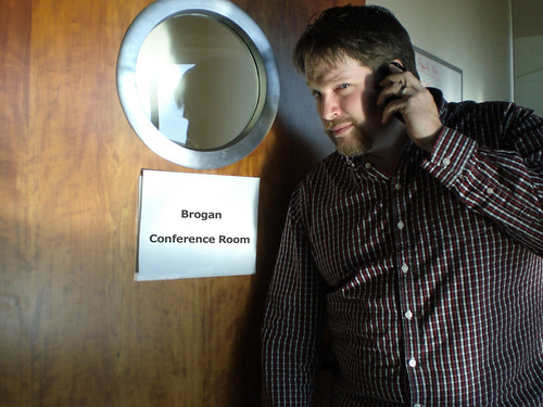 Chris Brogan in the Brogan conference room at HubSpot