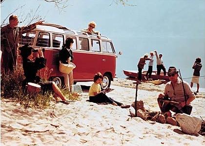 VW T2 on the beach