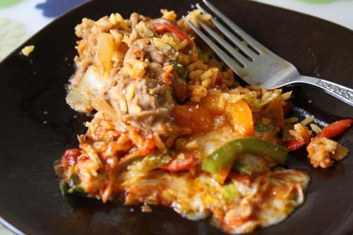leftovers of vegetarian enchiladas