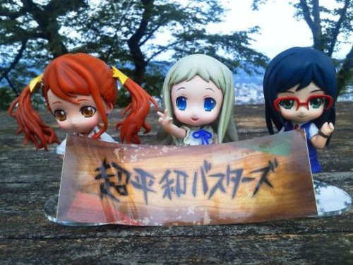 Nendoroid rendetion of Anaru, Menma, and Tsuruko