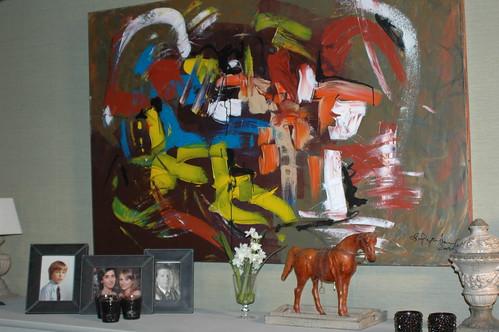 een nieuw schilderij bij Marianne