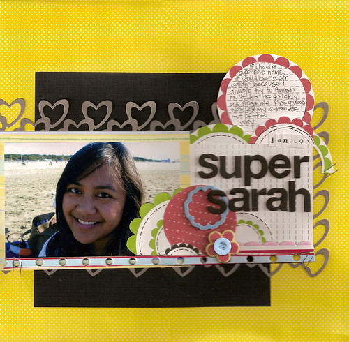 Super Sarah - Scrapmojo Challenge #29