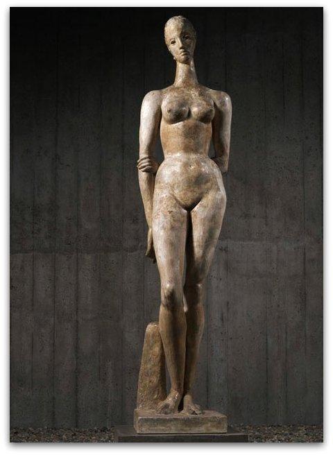 Wilhelm Lehmbruck (1881-1919), Grande figure debout, 1913. Plâtre - Duisbourg, musée Wilhem Lehmbruck. © Museum Wilhem Lehmbruck / Photo Fondation MAPFRE, Christian Baraja.