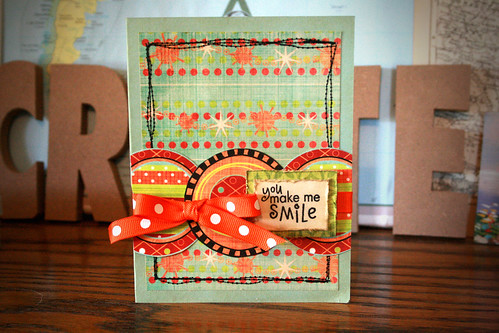 *You Make Me Smile* card